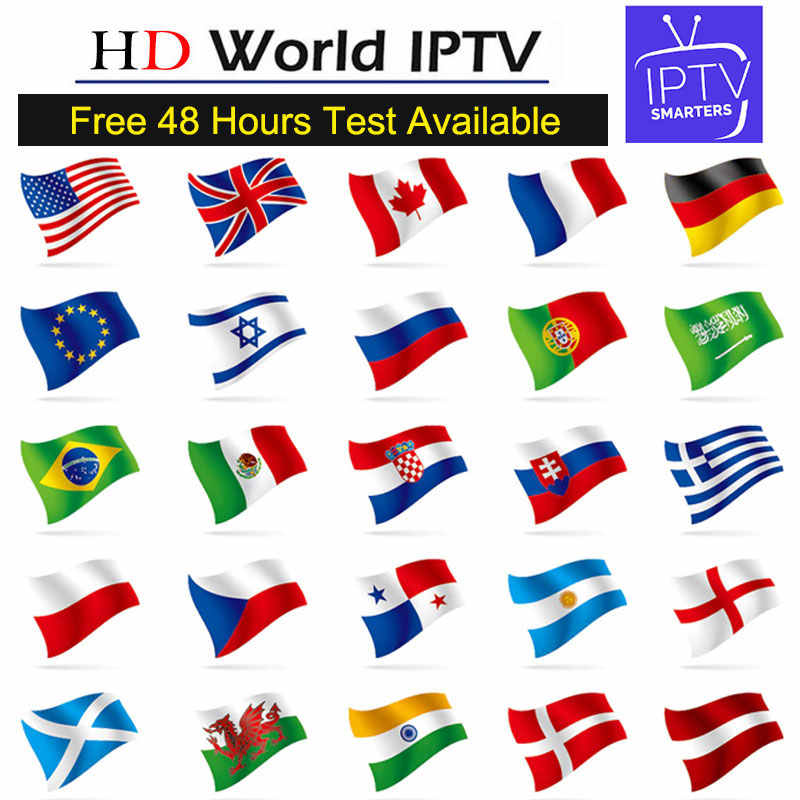World Europe IPTV Subscription With 5900+ Spain French Portugal Italia Poland GermanTurkey UK Arabic IPTV For M3U Android TV BOX