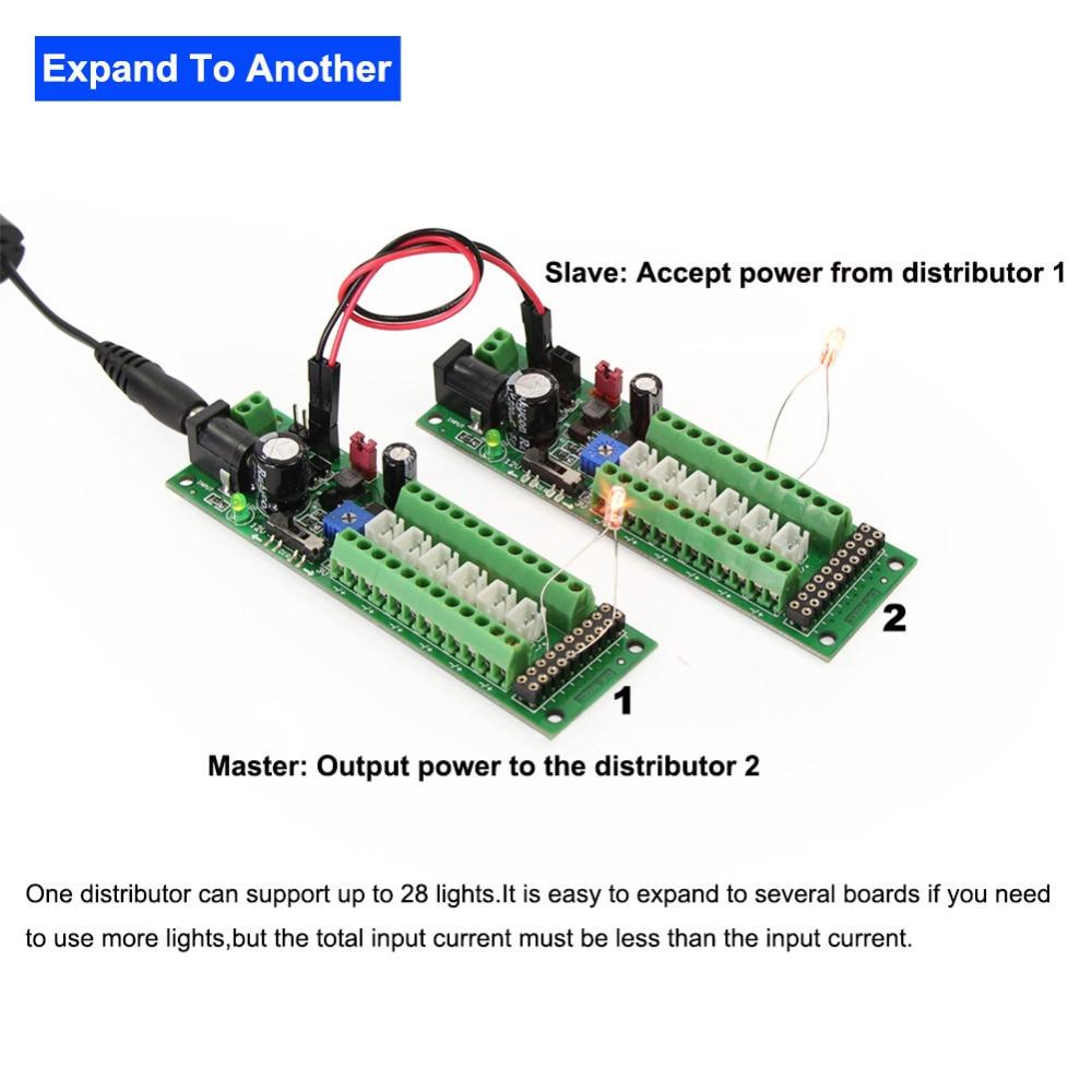 Image 4 - 1X Power Distribution Board Self adapt Distributor HO N O LED Street Light Hub DC AC Voltage PCB012 Train Power ControlModel Building Kits   -