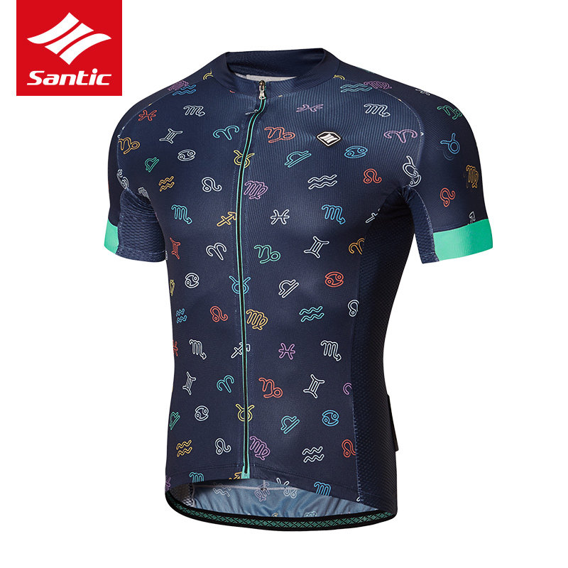 все цены на Santic Men Cycling Jersey 2017 Pro Team Short Sleeve Downhill MTB Jersey Bike Bicycle Clothing Ciclismo Roupa Breathable Comfort онлайн