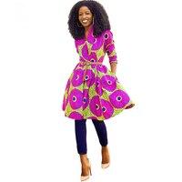 Spring Autumn 2016 Women Coat African Dresses Clothing Ankara Batik Wax Print Long Sleeve Clothes Coat