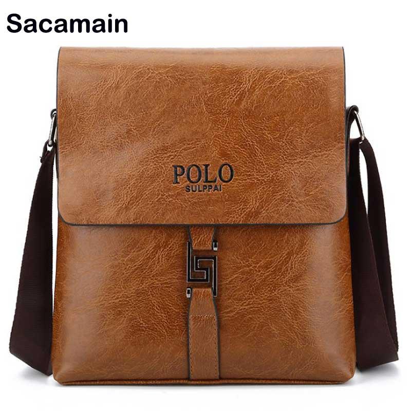 Promotion Designers Brand Men S Messenger Bags Pu Leather Vintage Mens Handbag Man Crossbody Business Work Bag Side