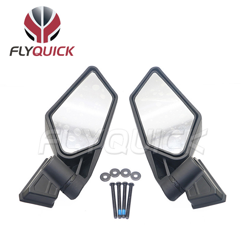 US $41 0 18% OFF|FLYQUICK Racing UTV Side Mirrors Set For UTV Can Am  Maverick X3 2017 18 Off road 1 Pair-in Side Mirrors & Accessories from
