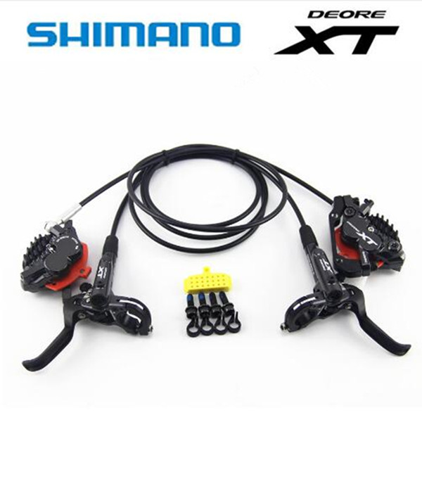 <font><b>Shimano</b></font> DEORE <font><b>XT</b></font> <font><b>M8020</b></font> MTB Bicycle <font><b>Brake</b></font> 4 Piston HydraulicBike Disc <font><b>Brake</b></font> ICE-TECH PADS Front Rear DH 800/900MM/1500/1600MM image