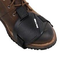 Мотоциклетная обувь защитный переключатель передач мотоцикла обувь сапоги протектор Мотоциклетный Ботинок крышка Защитное снаряжение Shift Pad
