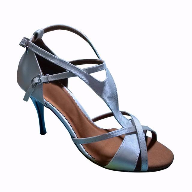 Fashional and comfortable womens latin dance shoes ballroom salsa shoes  tango bachata shoes party   wedding shoes 6252W 3f377a0a5c89
