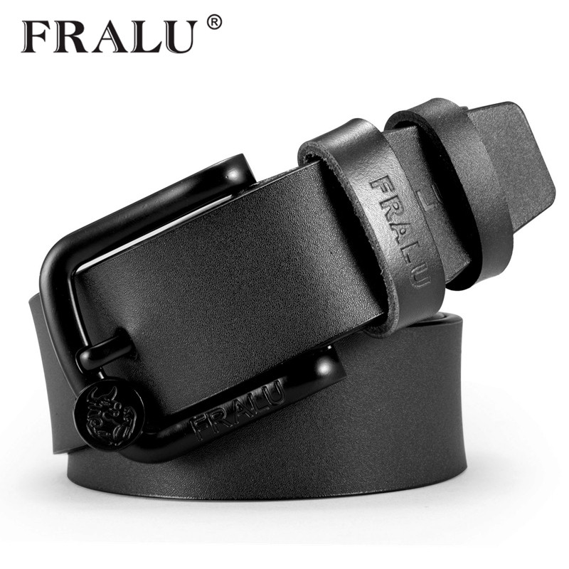 FRALU New men   belt   cow genuine leather luxury strap male   belts   for men new fashion classice vintage pin buckle dropshipping