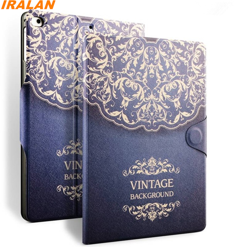 Luxury Smart Case For iPad 5 for iPad 6 Tablet PU Leather Cover For Apple iPad Air 1 air 2 9.7 Protective Shell+film+stylus pen luxury smart cover for ipad air 2 flip pu leather case for ipad air 2 ipad 6 tablet protective shell case 9 7 stand book cover