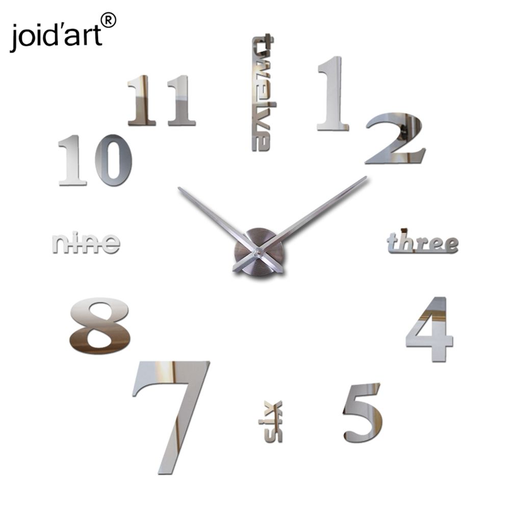 new wall clock watch clocks reloj de pared home decoration 3d Wall Sticker acrylic special sticker Living Room Needle