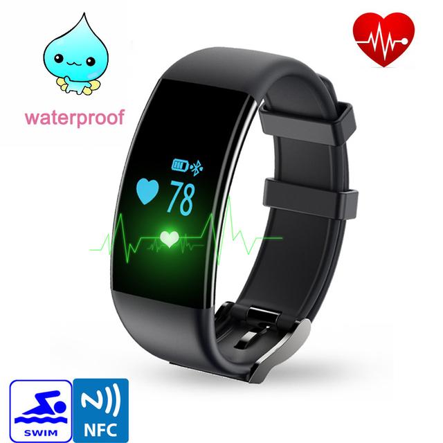 Dfit d21 inteligente pulsera smartband bluetooth del ritmo cardíaco deporte impermeable de natación fitness pulsera inteligente para android pk mi banda 2