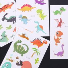 1pc Tattoo Sticker Cute Children Waterproof Fake Animal Dinosaur Temporary Tattoos Sticker Big Flower Nail Tips Body Tattoo