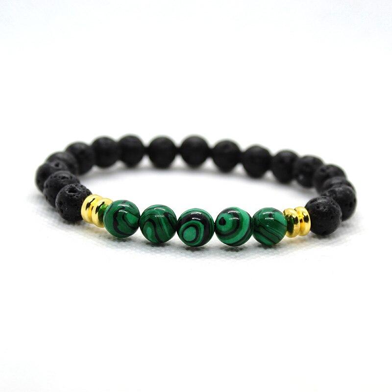 Lava Stone Beads Bracelet Men Bileklik Jewelry Buda Bracelets For Women Pulseras Mujer Friends Branzoletki Chakra Braslet Gold