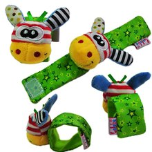 1 pc Baby Rattles Soft Plush Toy Wrist Band Watch Band Bed Bells/Baby Hand Bells/Infant Appease Toys/Newbron Gift(China)