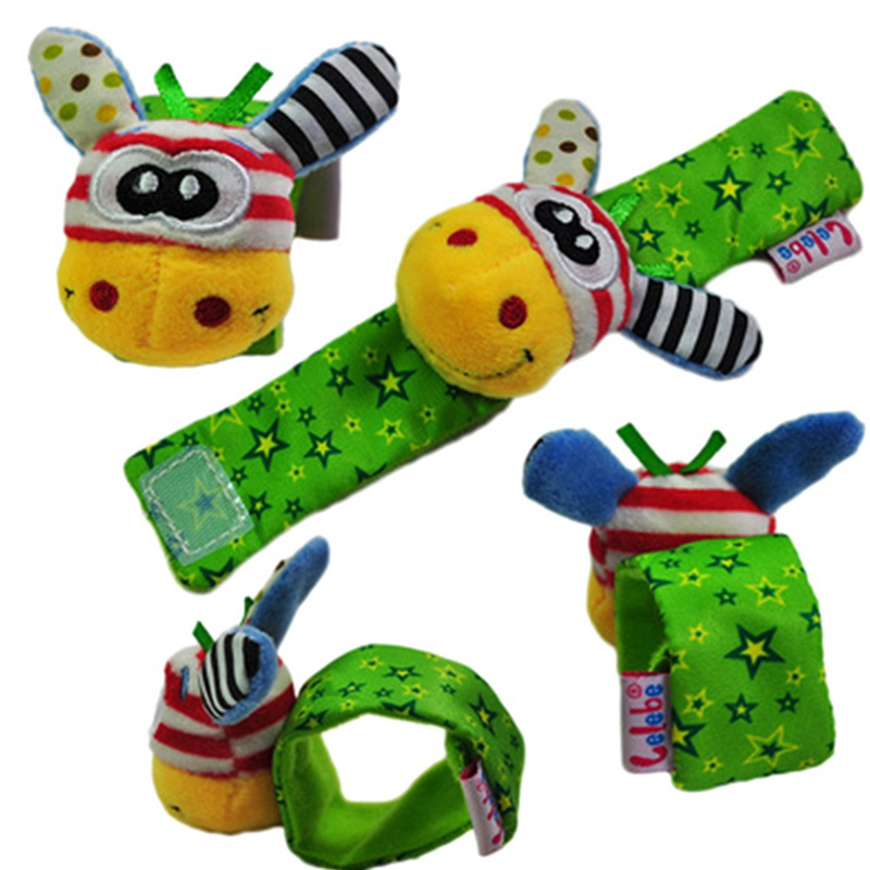 1 pc Baby Rattles Soft Plush Toy Wrist Band Watch Band Bed Bells/Baby Hand Bells/Infant Appease Toys/Newbron Gift