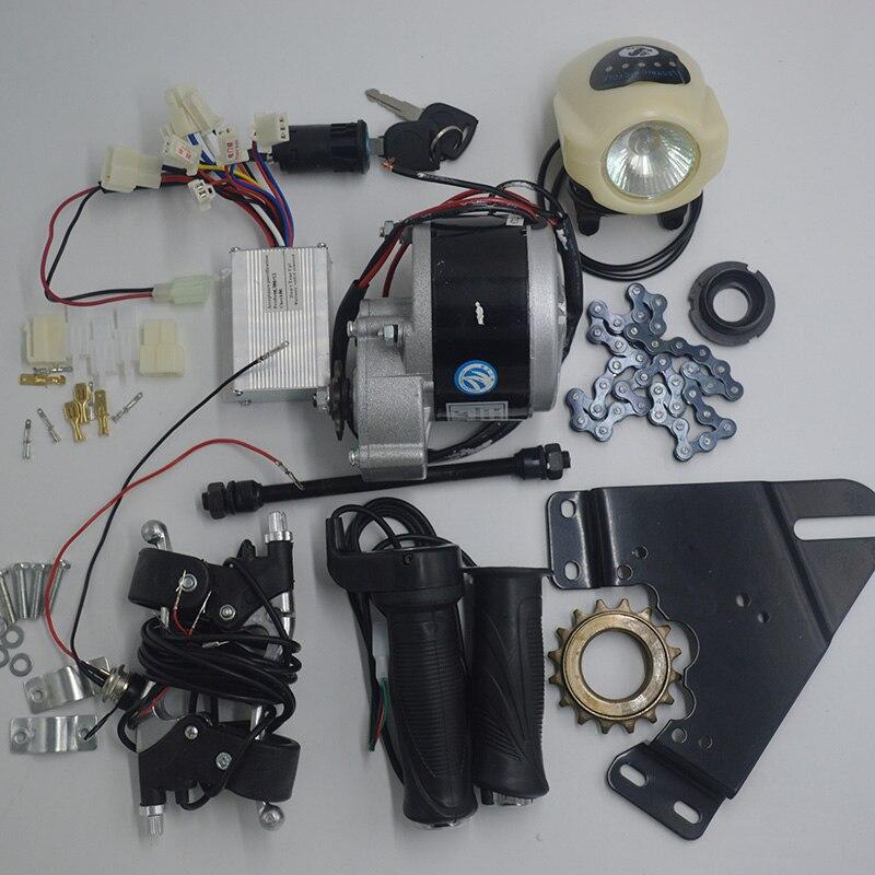 Motor de Escova Elétricos para Bicicletas Kit de Bicicleta Kit de Conversão de Bicicleta Roda v 350 w dc Motores Elétrica Diy 22 -28 36