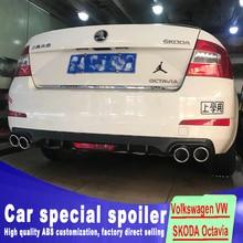 4 vents  big rear spoiler 2015 2016 2017 For Volkswagen SKODA Octavia by trunk bumper lip wings