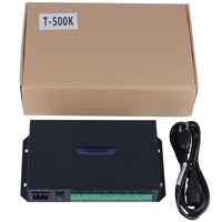 WS2811/WS2812b/WS2813/APA102 led pixel controller T500K;AC85 265V input;can control 8192 pixels,8 ports output