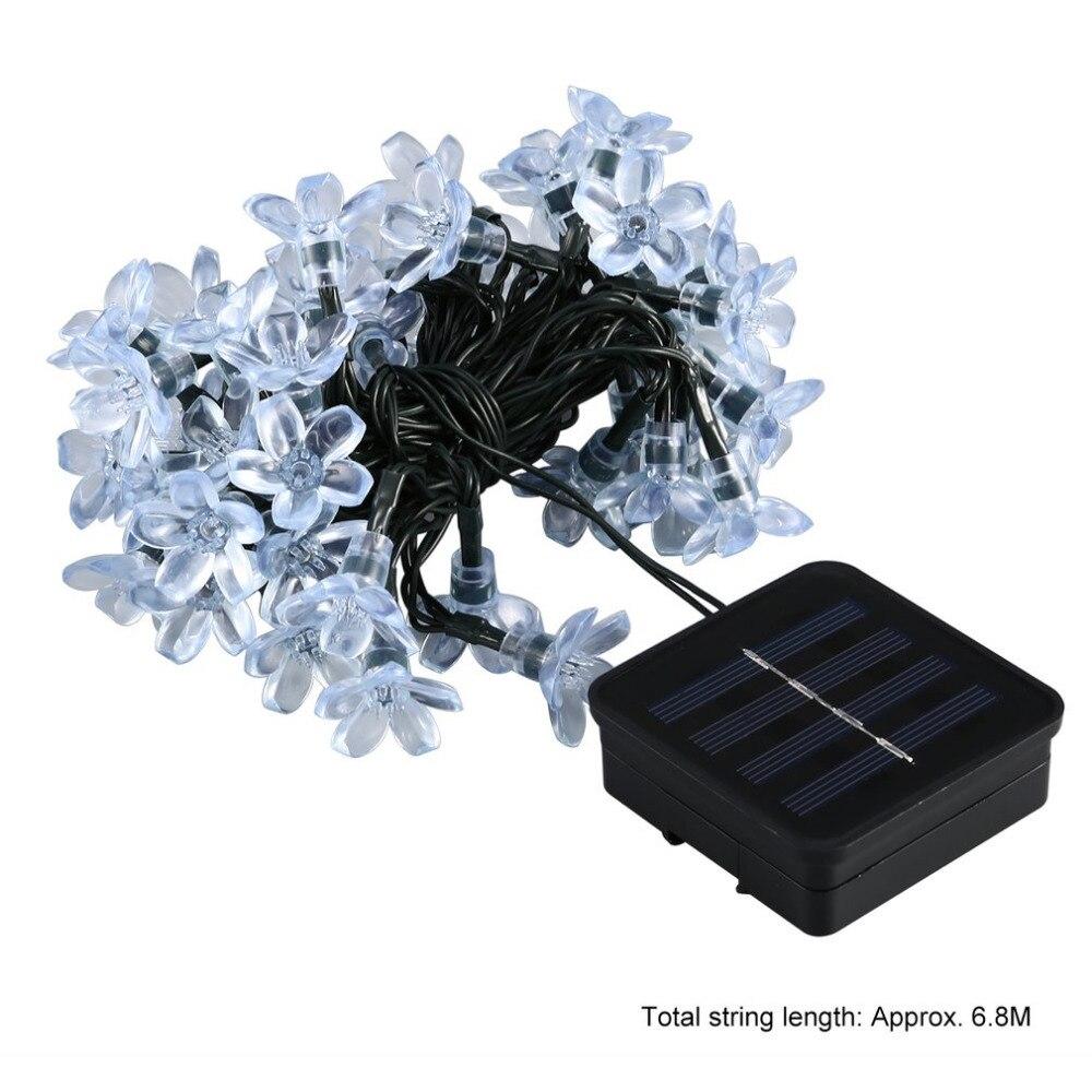 Solar Panel String Lights: 50 LED Solar String Lights With Solar Panel Waterproof