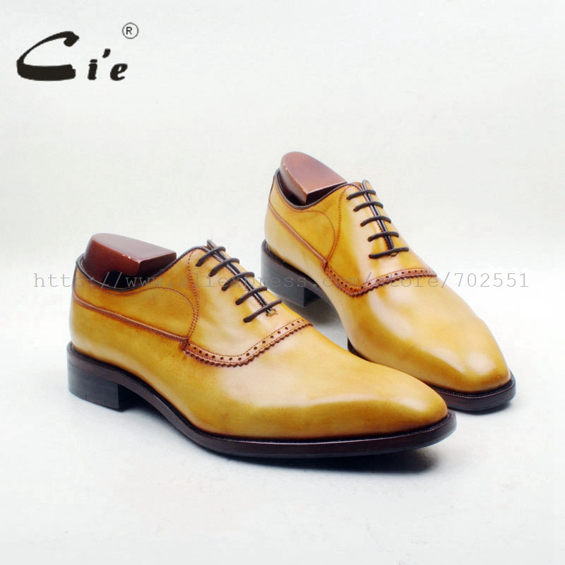 cie Square Plain Toe Custom Handmade 100% Genuine Calf Leather Outsole Breathable Mens Dress Oxford Yellow Brown shoe OX714-1cie Square Plain Toe Custom Handmade 100% Genuine Calf Leather Outsole Breathable Mens Dress Oxford Yellow Brown shoe OX714-1