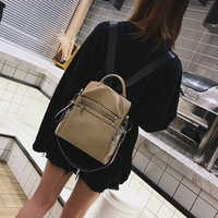 New Hot Casual Large Capacity Ladies Backpack Fashion Short Travel Backpack New All Match Pu Leather Shoulder Bag