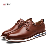 2018 New Spring Mens Oxford Business Shoes Soft Casual Breathable Smart Casual Men's Flats Business Office Dress Leather Shoe