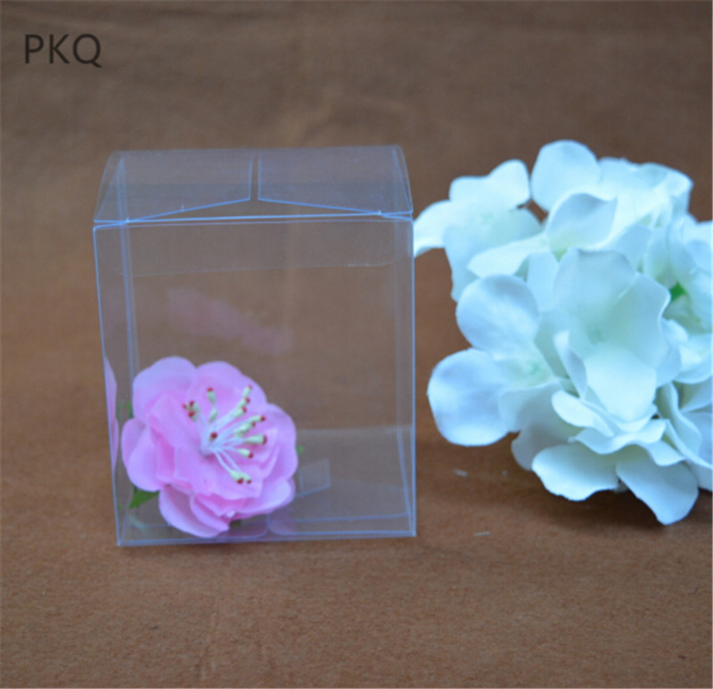 500pcs Wedding Favor Gift Box Transparent Gift Candy Box Party Decoration Chocolate packaging Boxes Clear Plastic
