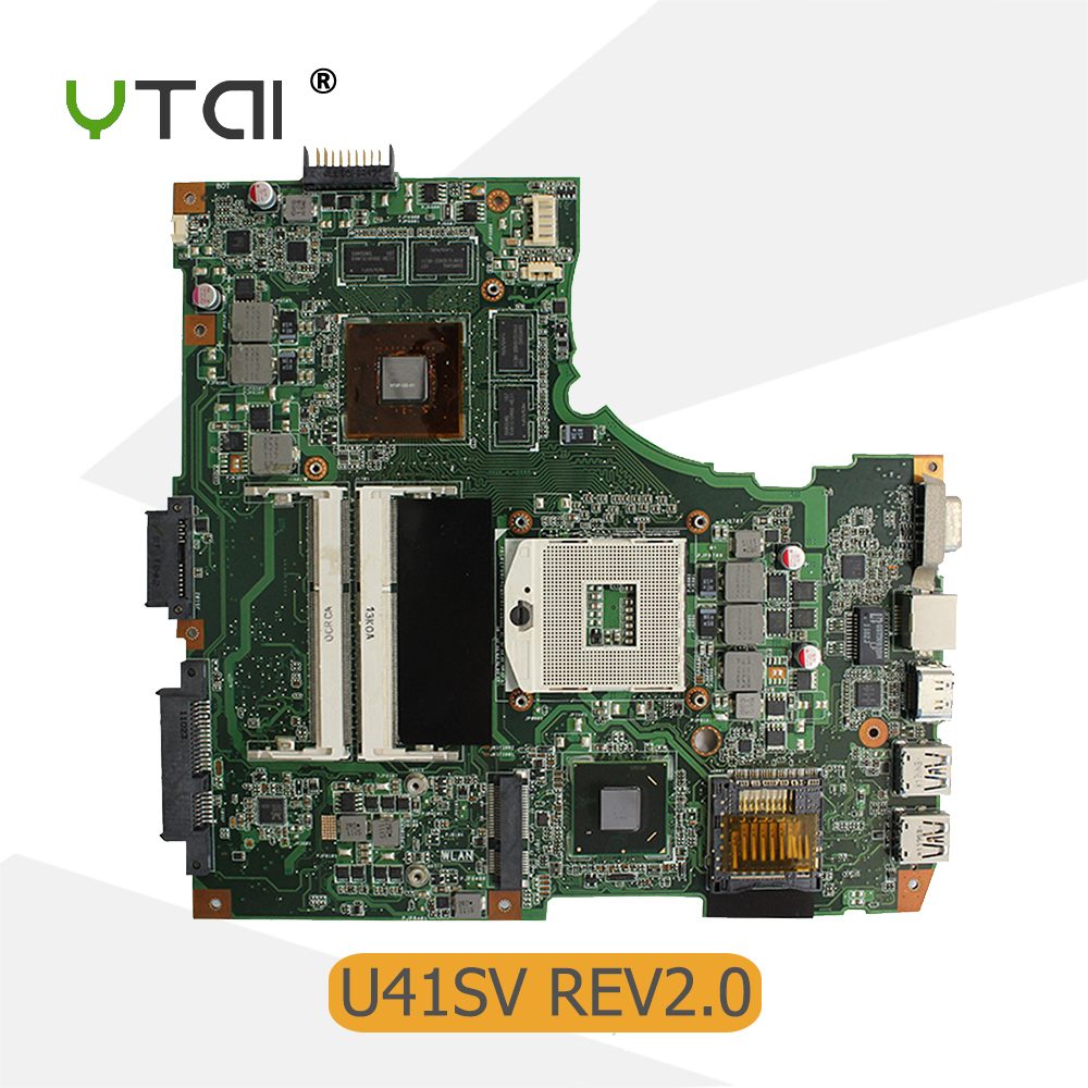 все цены на YTAI for ASUS U41S U41SV laptop motherboard GT540M HM65 PGA989 DDR3 USB3.0 mainboard fully tested онлайн