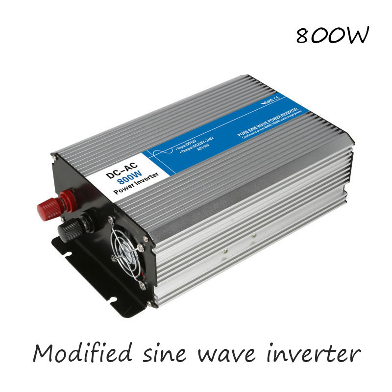 DC-AC 800W Modified Sine Wave Inverter 12V To 220V Frequency Converter Voltage Electric Power Supply Digital Display USB China 5000w dc 48v to ac 110v charger modified sine wave iverter ied digitai dispiay ce rohs china 5000 481g c ups
