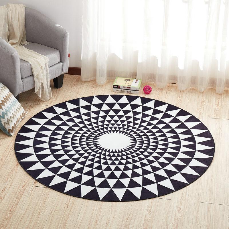 Круглый ковер, коврик для двери, современные ковры для гостиной, ковер для спальни, Противоскользящий коврик для пола, домашний текстиль - Цвет: Color G