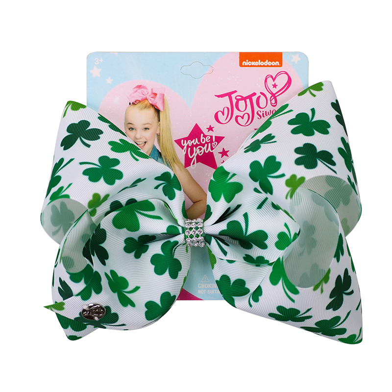 26pc lot 8 inch St Patrick s Day Jojo Bows for Girls Jojo Siwa Large Hair