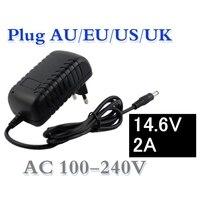 14.6 V 2A Carregador Inteligente inteligente para 4S Vida Lifepo4 Bateria de 12.8 V UE/EUA/AU/UK Plug
