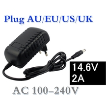 14.6V Smart Intelligent Charger 2A for 4S 12.8V LiFe LiFePO4 Battery Pack EU/US/AU/UK Plug