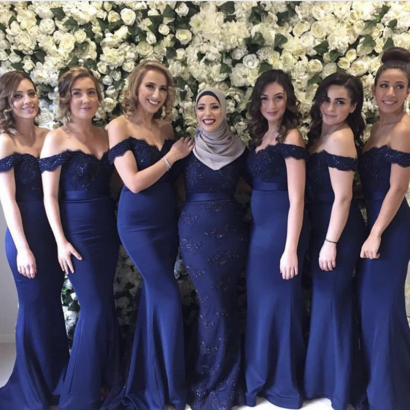 6213df2f0db 3 Style Royal Blue Lace Mermaid Bridesmaid Gowns Peach Champagne Silver  Coral Burgundy Pink Crystal BeadedBridesmaid Dresses-in Bridesmaid Dresses  from ...