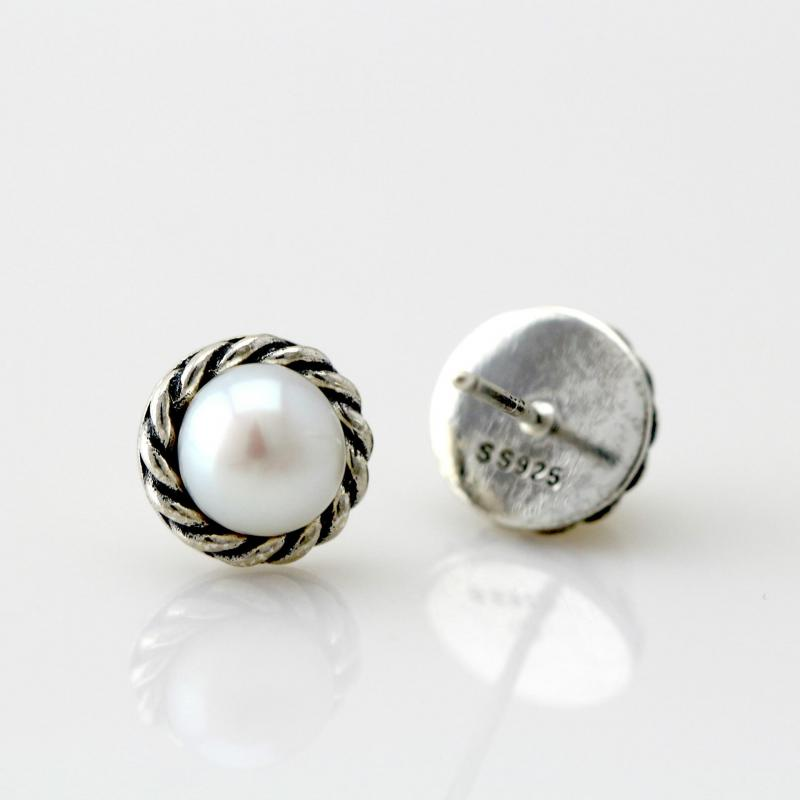 silver pin pearls gemstone sterling ring pearl artulia by