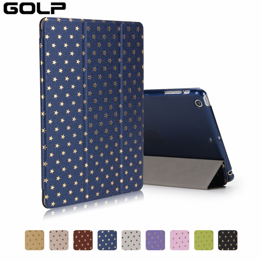 GOLP PU+PC Leather Case For iPad 2017 9.7 inch Shockproof Folio Stand Cover 9.7 New funda For iPad 2017 Smart Cover A1822 A1823 pu leather book flip cover case for new ipad 9 7 2017 release a1822 a1823 model tablet folio stand cases luxury black gold