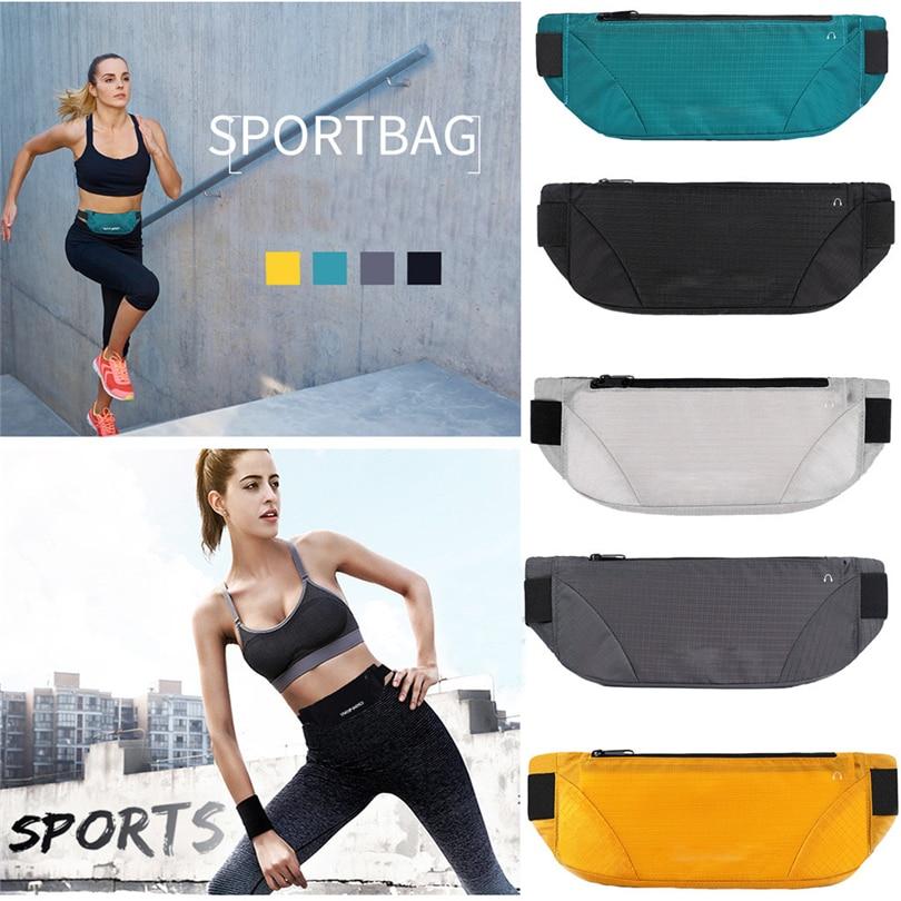 Mnycxen Waterproof Running Waist Bags Utility Gym Fanny Pack Sport Fitness Belt Bag 4-6.5Inch Cell Phone Pocket For Men Women A2