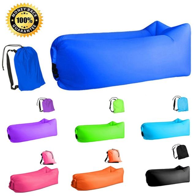 Aotu Light sleeping bag Waterproof Inflatable bag lazy sofa camping Sleeping bags air bed Adult Beach Lounge Chair Fast Folding 1