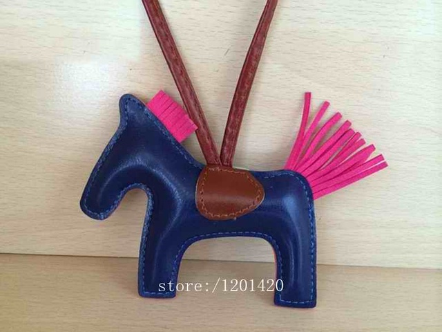 Navy blue leather Horse bag charms  Whole sale key chain charms handmade bling gift handbag charms bling girlfriend gift