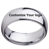 Free Shipping 8MM Black 7 CZ Tungsten Carbide Rings Men Women Jewelry Wedding Band Available Size