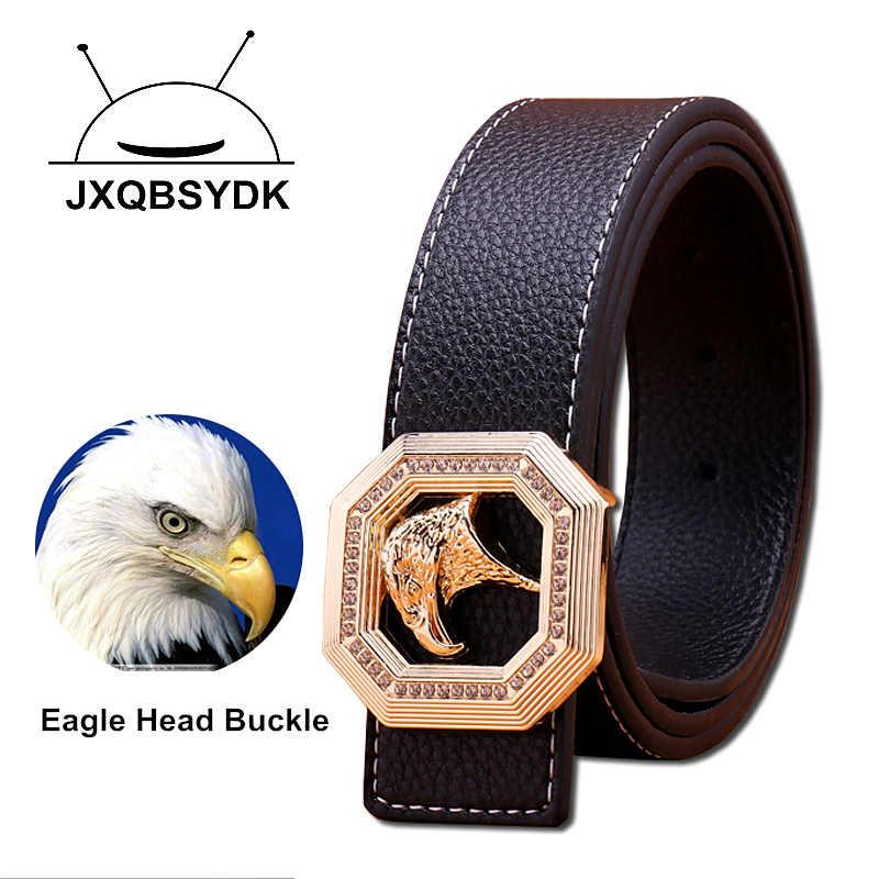 03dd46ff758 JXQBSYDK Luxury Brand Belts for Men Eagle Head Buckle Designer Men Fashion  High Quality Male Leather
