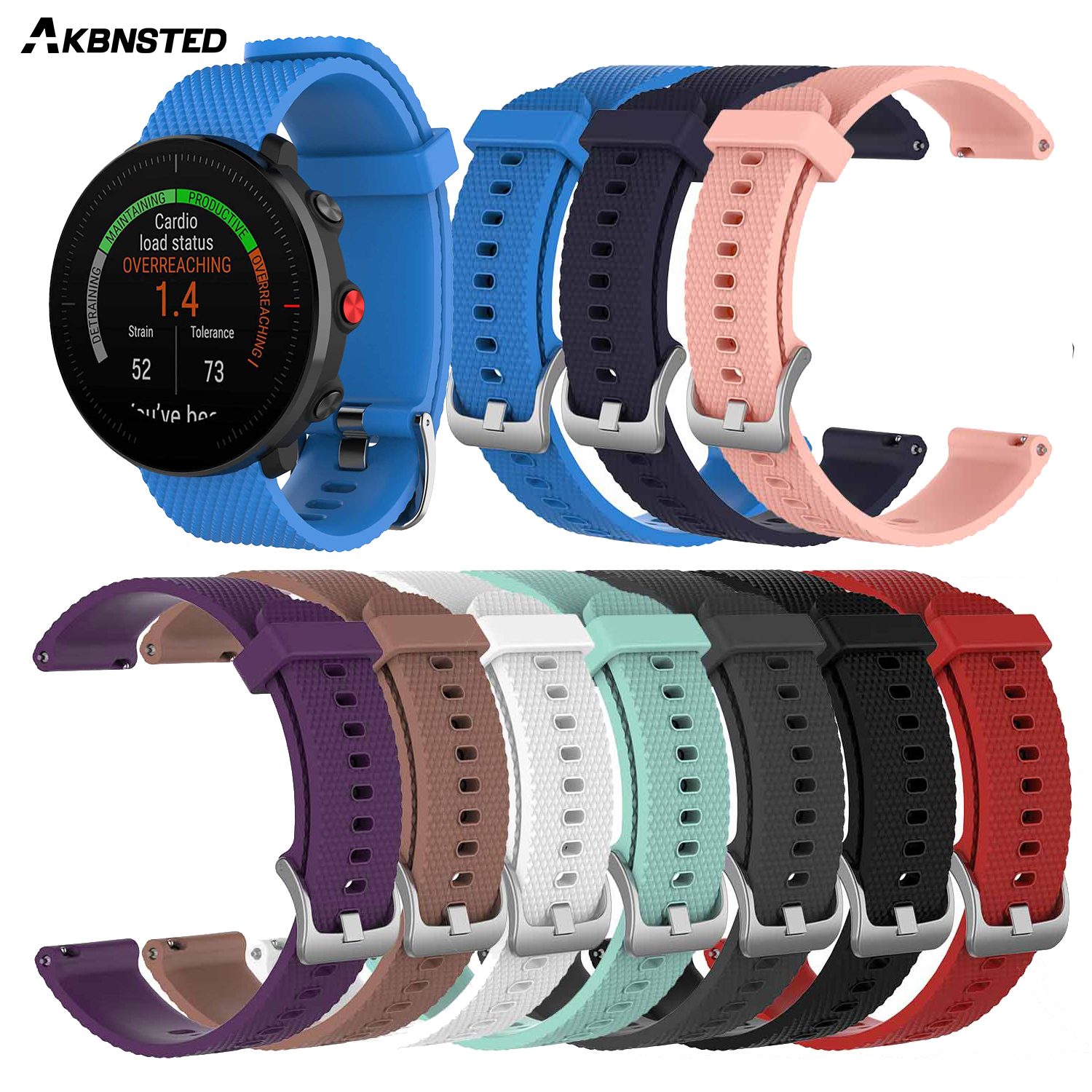 AKBNSTED Replacement Band Silicone Wristband Bracelet Strap For Polar Vantage M Smart Watch Band For Vantage M Accessories
