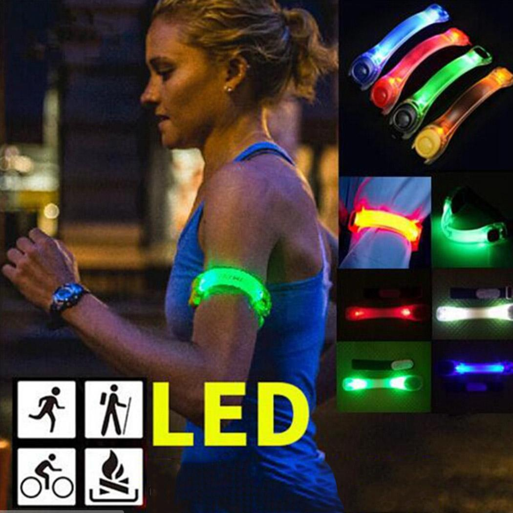Outdoor Sports Night Running Light Safety Jogging Led Arm Leg Warning Wristband Cycling Bike Bicycle Party luces bicicleta