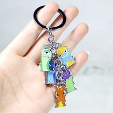 Retail 1pcs Cartoon Anime Slugterra Metal Pendant Keychain Free Shipping
