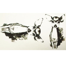 10x6cm Temporary Small Cute Fashion Tattoo Baby Deer