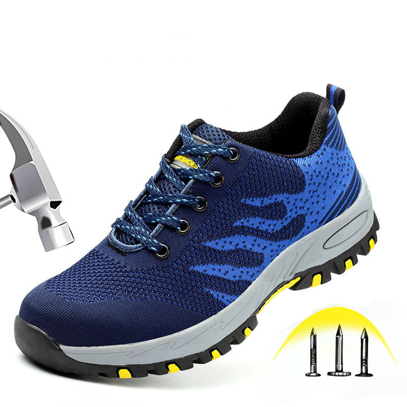 Men's Summer Steel Toe Safety Shoes Lightweight Man Work Shoes For Men Work & Safe Shoes Mesh Boots Women Protection Shoes