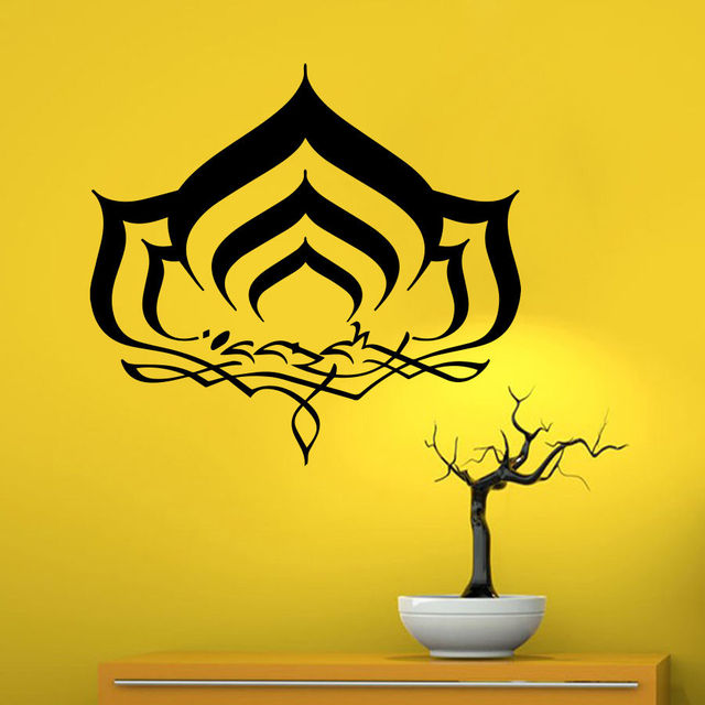Wall Decals Lotus Flower Symbol Yoga Bedroom Vinyl Sticker Home Art ...