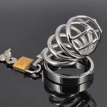 Stainless steel CB6000S small size short chastity cage device sex toy CB Bondage cock lock