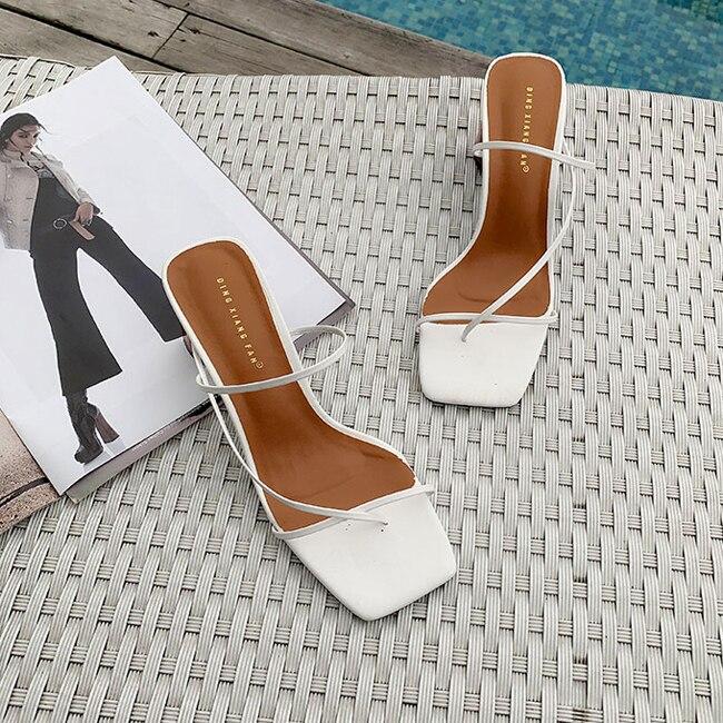 HTB1HTrcbwmH3KVjSZKzq6z2OXXaZ MONMOIRA Wood Heel Slipper Women's Sandals Vintage Square Toe Narrow Band High Heel Sandals Women Summer Shoes Women SWC0713