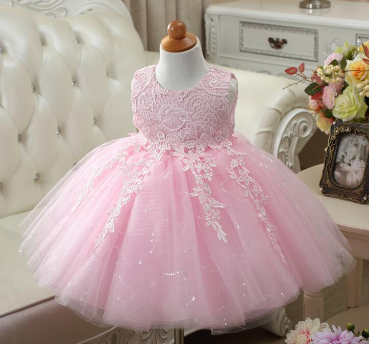 Sequin Baby Flower Girl Clothes Weddings Pageant 3 Color