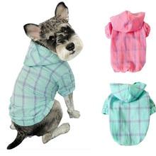Новая летняя солнцезащитная Кепка для собак, толстовки, пальто, Повседневная дышащая клетчатая тонкая одежда, Весенняя Толстовка для щенка
