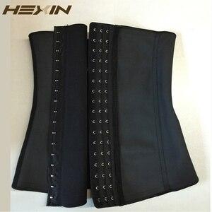 Image 3 - HEXIN 9 стальных костей 100% латексный корсет для талии, сексуальный женский корсет для тела, корсет для талии, Корректирующее белье, пояс для похудения 6XL